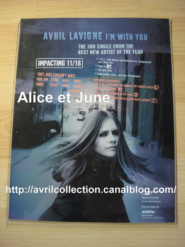 Fiche promotionnelle américaine-I'm With You (2002)