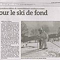 Vu dans la presse : tout pour le ski de fond (er du 14/03/2016)