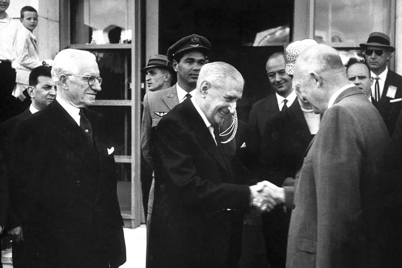 António-Salazar-Dwight-Eisenhower
