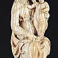 Vierge à l'enfant, france, xvie siècle.