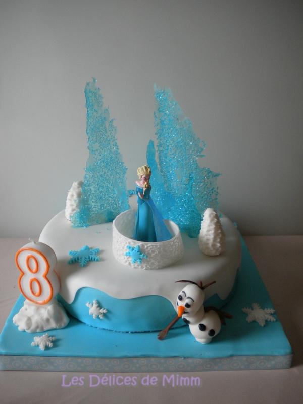 Gâteau La reine des neiges (Frozen) 2