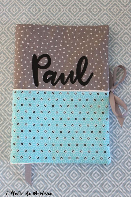 housse de carnet de santé personnalisée PAUL
