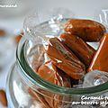 Caramel tendre au beurre salé ou non