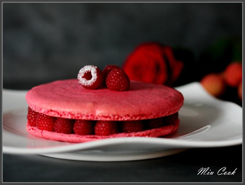 macaron rose framboise litchi