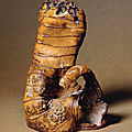 A large bamboo root seal, 18th-19th century
