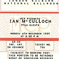 Ian mcculloch - lundi 6 novembre 1989 - kilburn national ballroom (londres)
