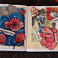 Art le mixed média art floral art journal