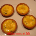 Tartelettes fruits de la passion ananas