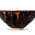 A jizhou spot-decorated bowl, southern song dynasty, 1127-1279