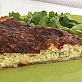 Tarte fine au 3 fromage courgettes