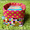 Petit bac en tissu 12 lingettes lavables (50 euros)