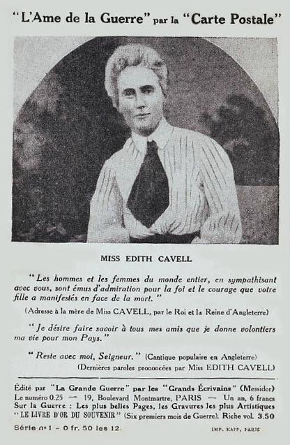 CPA Edith Cavell L'Ame de la Guerre