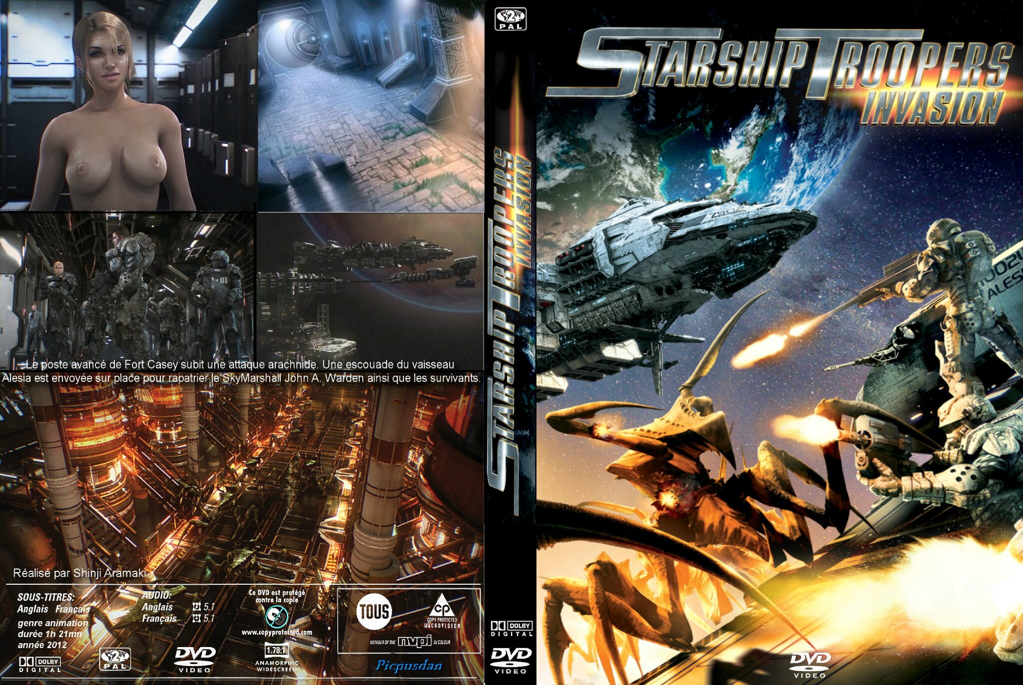 Jaquette Starship Troopers Invasion