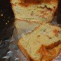 Cake aux tomates, à la mozarella et au basilic