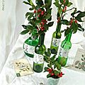 Bouquet de houx mis en bouteilles