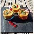 Gaspacho courgette, tomates et poivrons