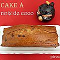 Cake moelleux à la noix de coco et aux pépites de chocolat