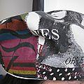 Chapeau de pluie imprimé couverture de magazine de mode