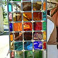 démonstration de vitrail