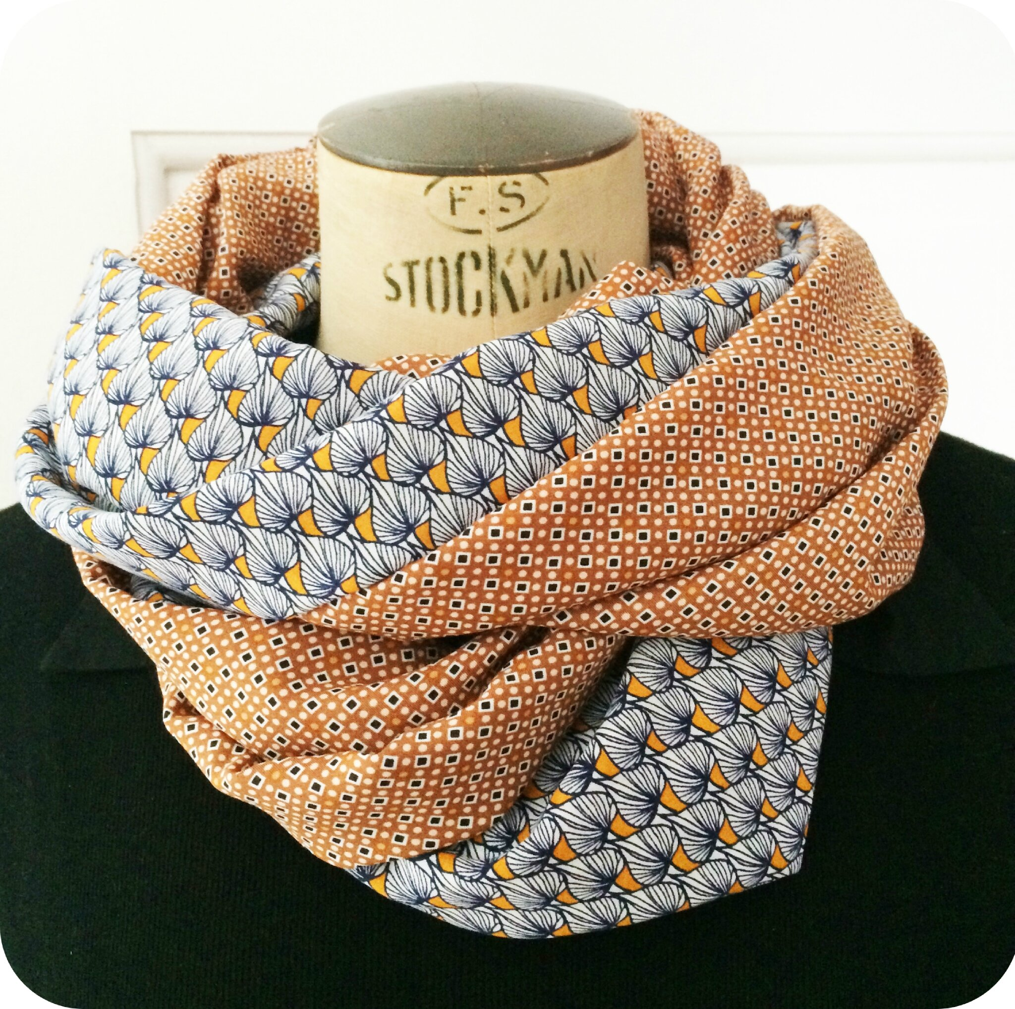 Snood été vintage graphic 3