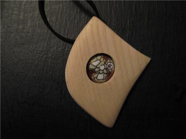 Collier Bois / Emaux