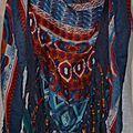 Foulard Triangle - Chèche 'Boho Hippie Chic ' avec Plumes