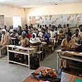 Une classe du lycée de Sabcé