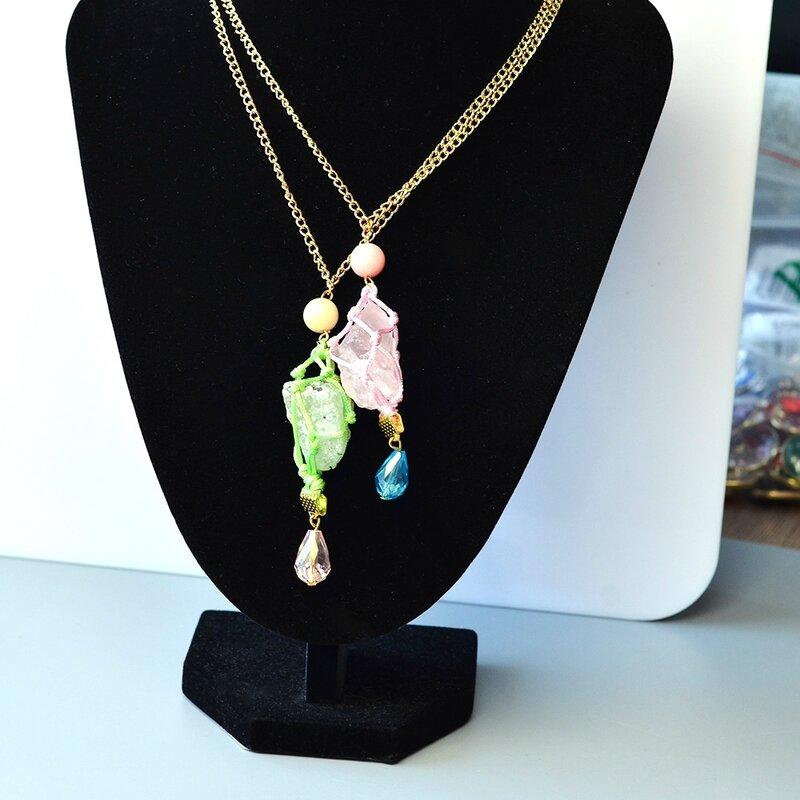 PandaHall-DIY-Idea-on-Gemstone-Rough-Nuggest-Bead-Pendant-Necklace-6