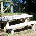Donostia-ile Sta Clara table de picnic
