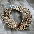 beau bracelet crochet sable Valerie albertosi