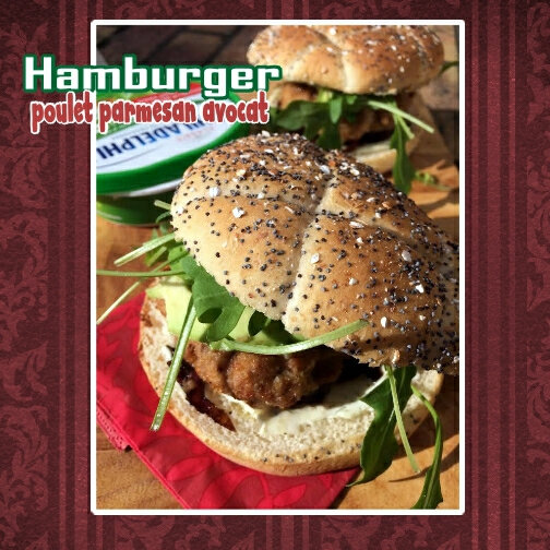 hamburger de poulet parmesan avocat (scrap)