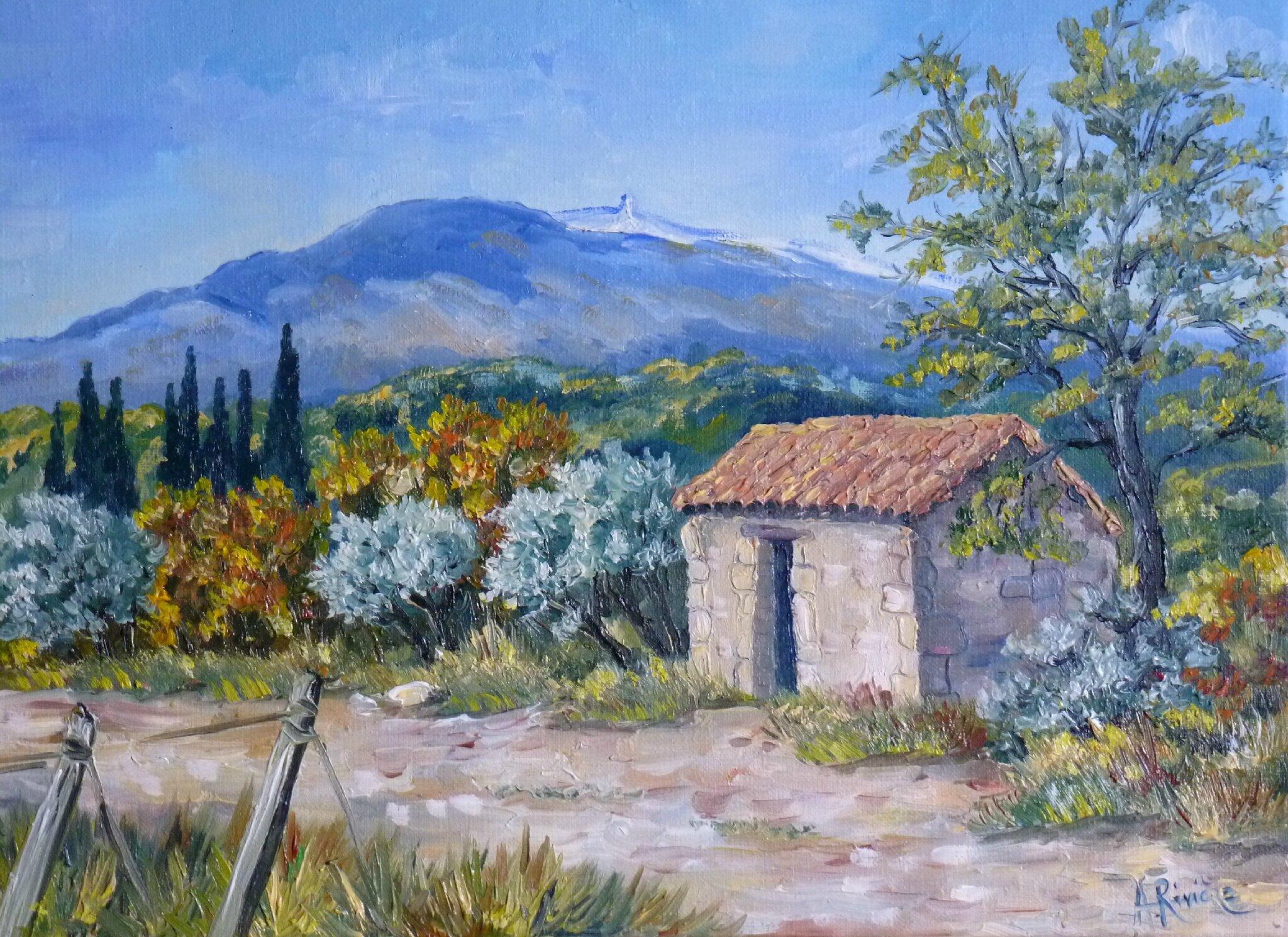 Cabanon au mont Ventoux Format 4F (33x24) 170 €