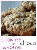 Cookies choco-avoine - index