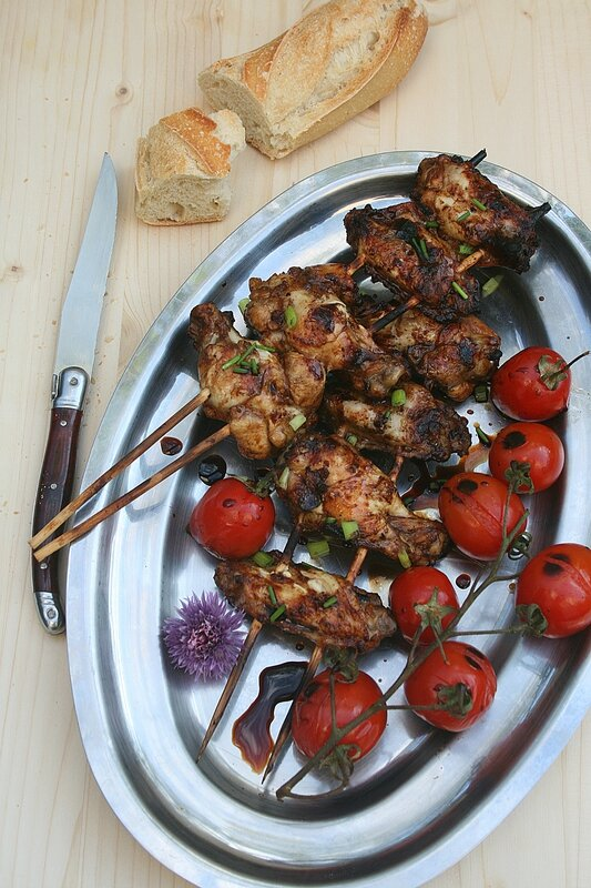 Grillade d'ailes de poulet à l'asiatique - passion culinaire minouchka