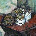 S.Valadon 1918 (chats)
