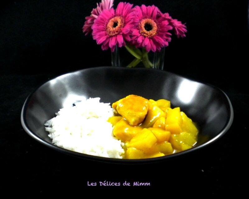 Curry de poulet express aux pommes et ananas 4