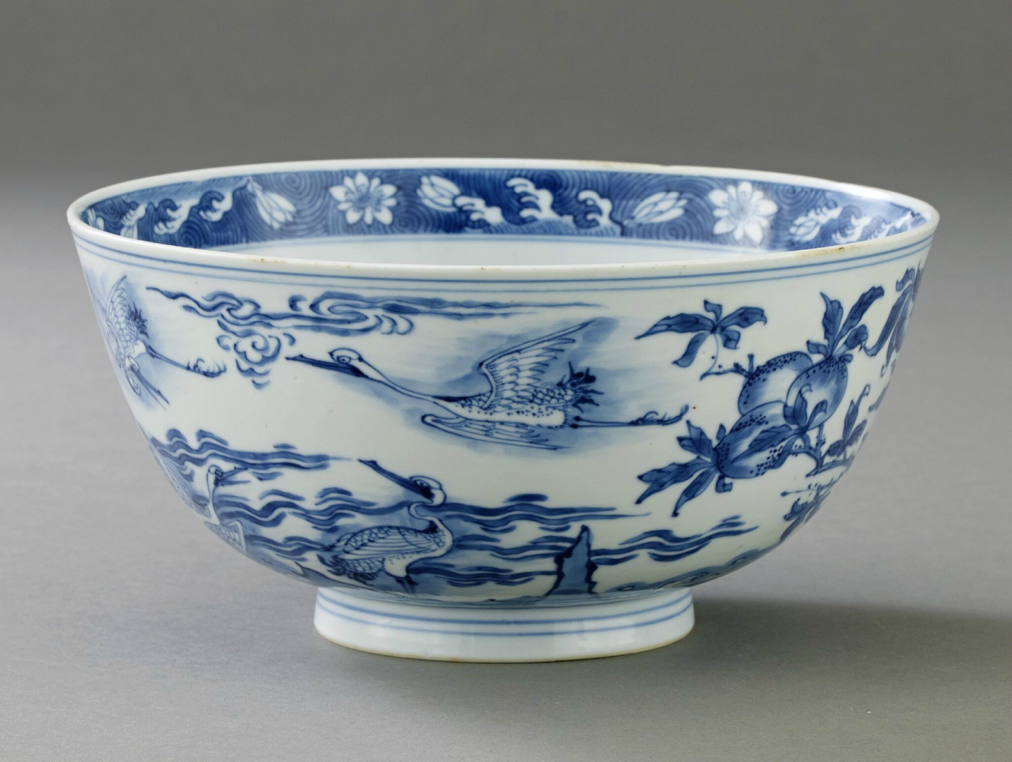 A Blue and White Bowl, Kangxi period (1662-1722). Photo Stockholms Auktionsverk