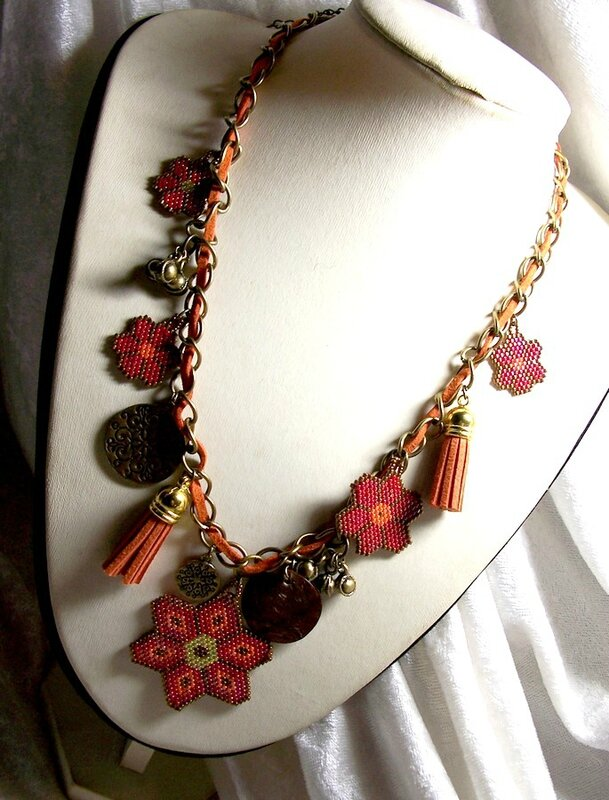 Collier Gypsi flower 1