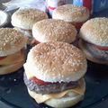 Hamburger et pommes duchesses
