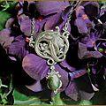 Collier pendentif elfique esprit forêt fée labradorite elvish forest spirit necklace