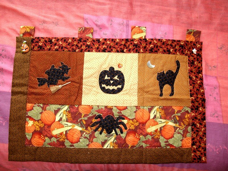Halloween-patchwork - fait par Maman