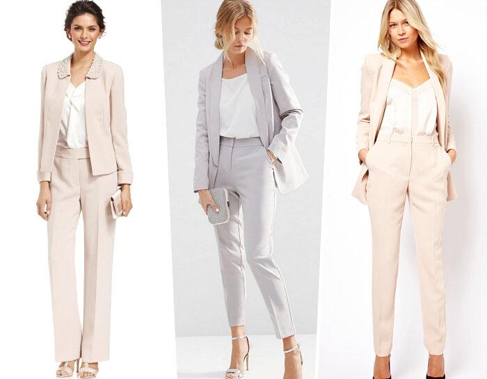 femme-élégante-costume-2-pièces-tailleur-pantalon-pour-baptême-couleurs-neutres-tenue-pastel