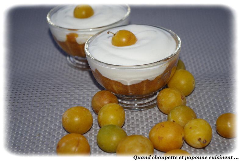 fromage blanc sur compotée de mirabelles-5960