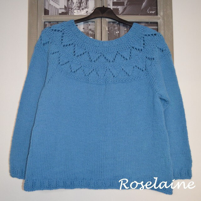 Roselaine Frambuesa Sweater by Drops Design 1