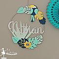 Baptême thème tropique décoration toucan