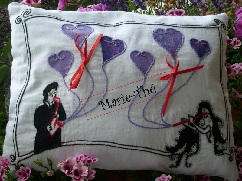 8 Coussin mariage Marie-Thé