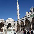 turquie : istanbul cour de la mosquée bleue