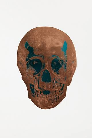 Damien Hirst, The Dead Turquoise Panama Copper Skull, 2009