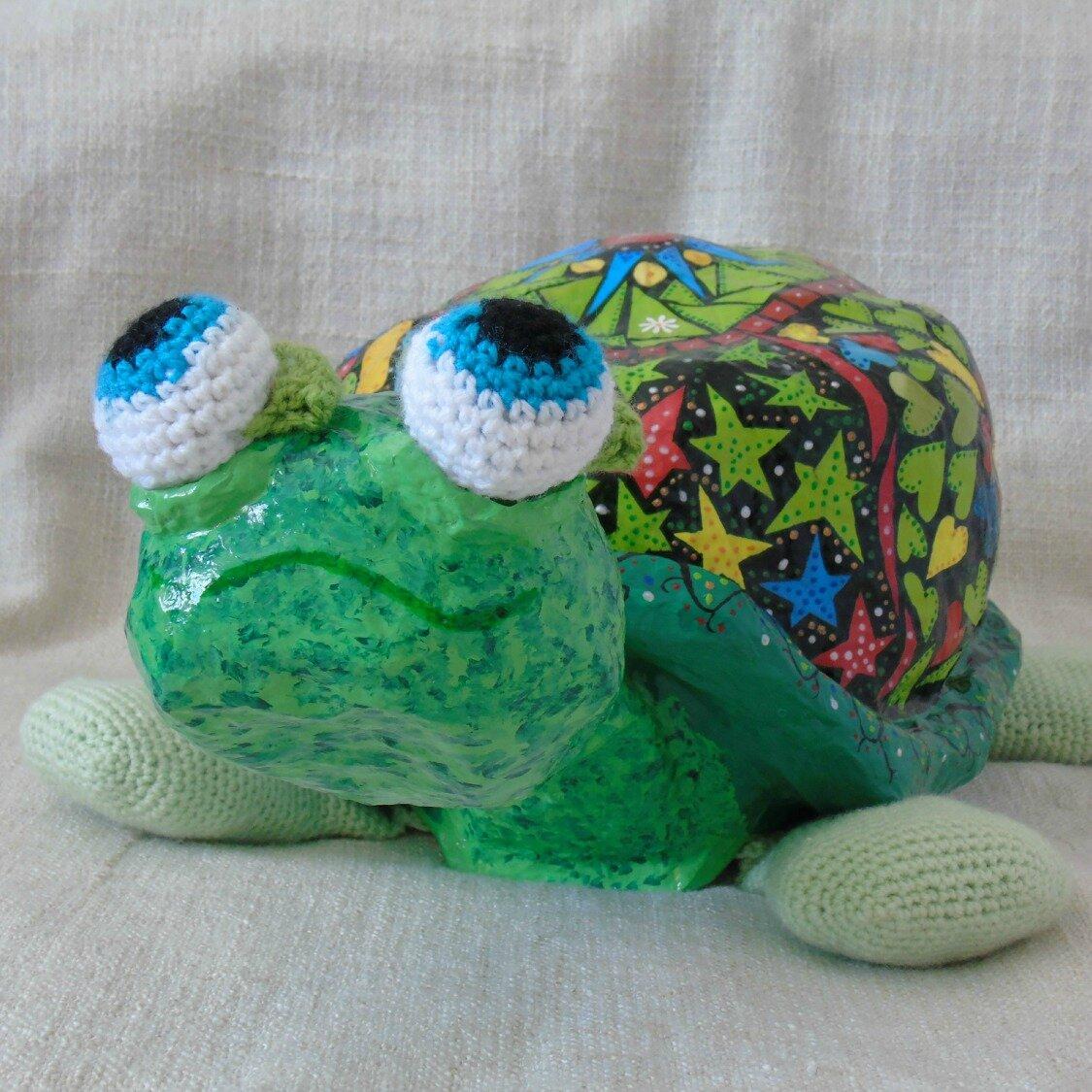 tortue en papier maché01