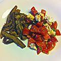 Des aubergines frites en chapelure à la menthe